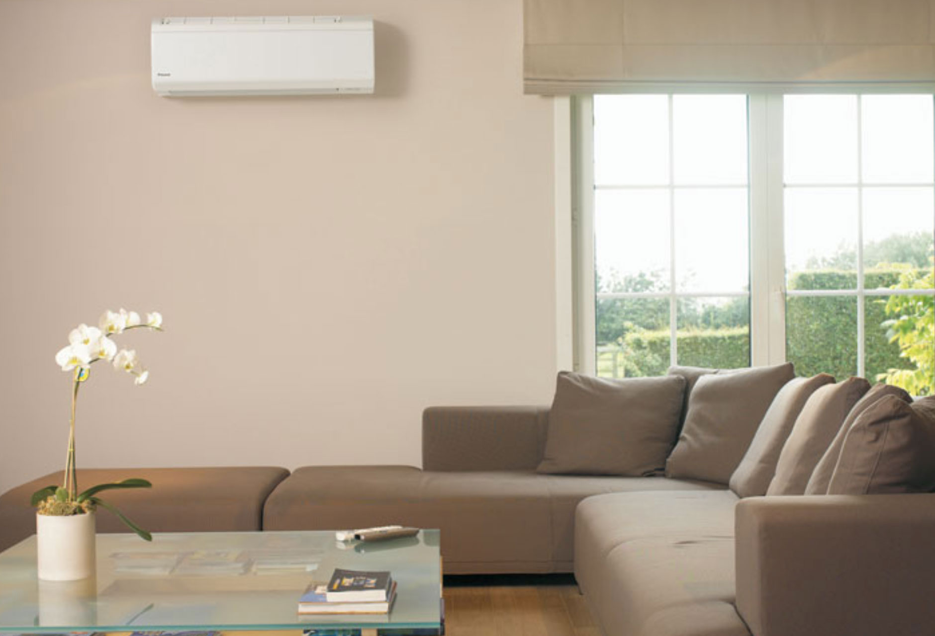 Mitsubishi Electric Air Conditioning unit in a living room
