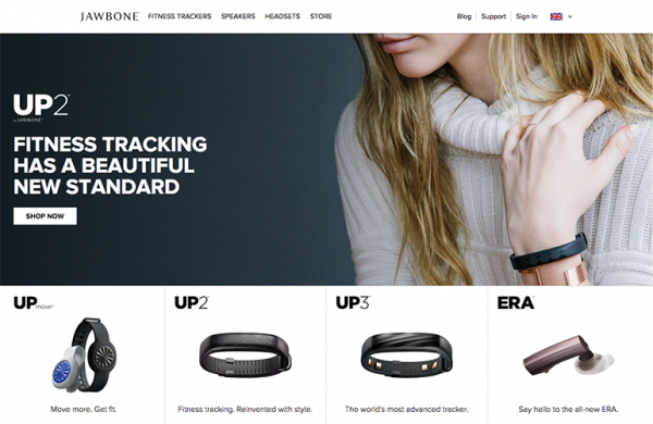 Jawbone fitness tracking website
