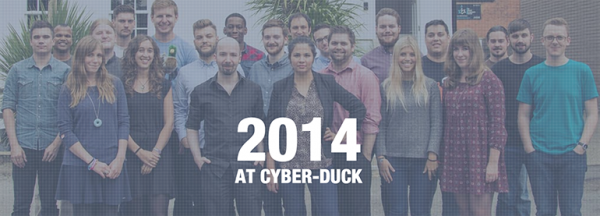 The team from 2014 at Cyber-Duck