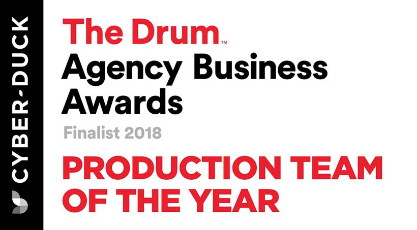 Cyber-Duck: Production Team of the Year Finalists 2018