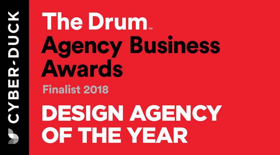 Design Agency of the Year Finalist at The Drum Agency Business Awards