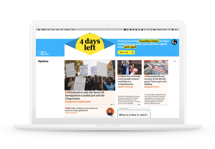 The Guardian's 4 Days Left on a MacBook