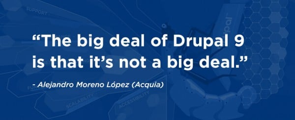 drupal 9 upgrade process 2021 roundtable quote