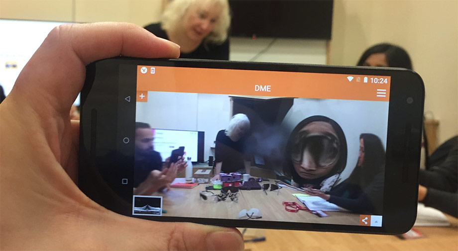 Augmented reality to demonstrate visual impairments to UX team
