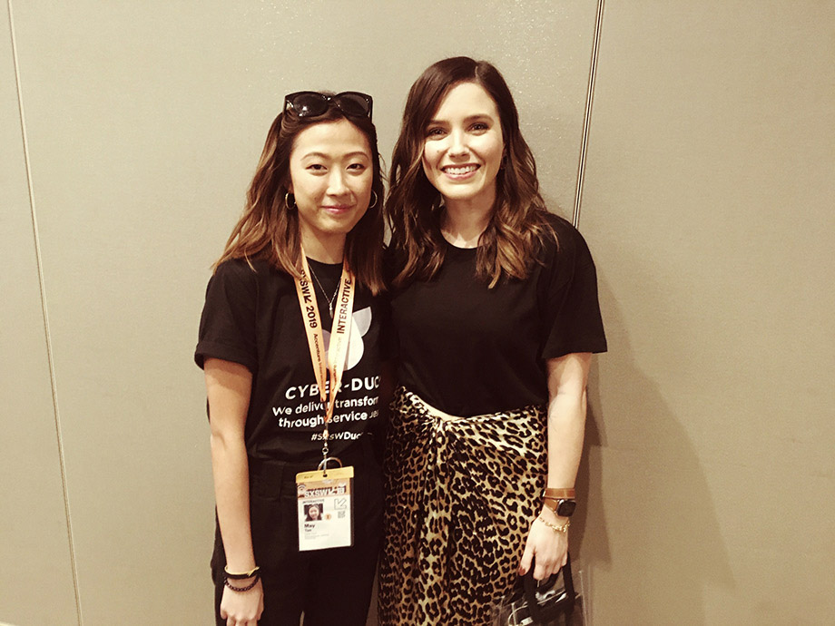 May Tan and Sophia Bush at SXSW 2019