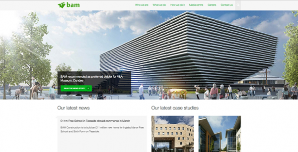 BAM Construct UK Homepage