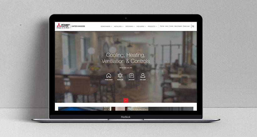 Mitsubishi Electric's new Living Environment Systems website is our latest major client launch.
