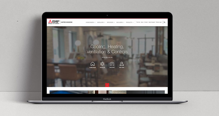 Mitsubishi Electric's new website