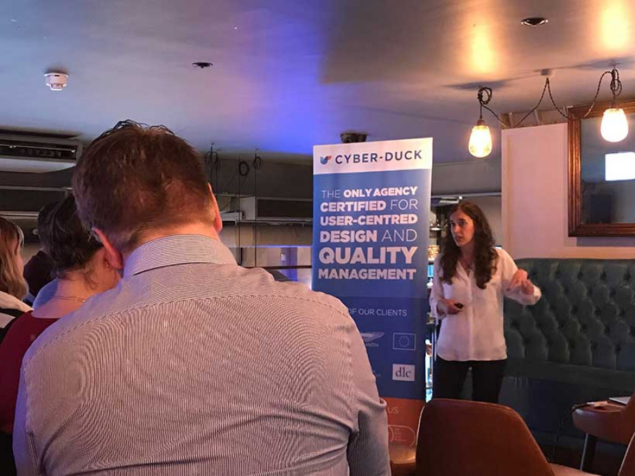 Cristina talks UX design at Leeds Digital Festival