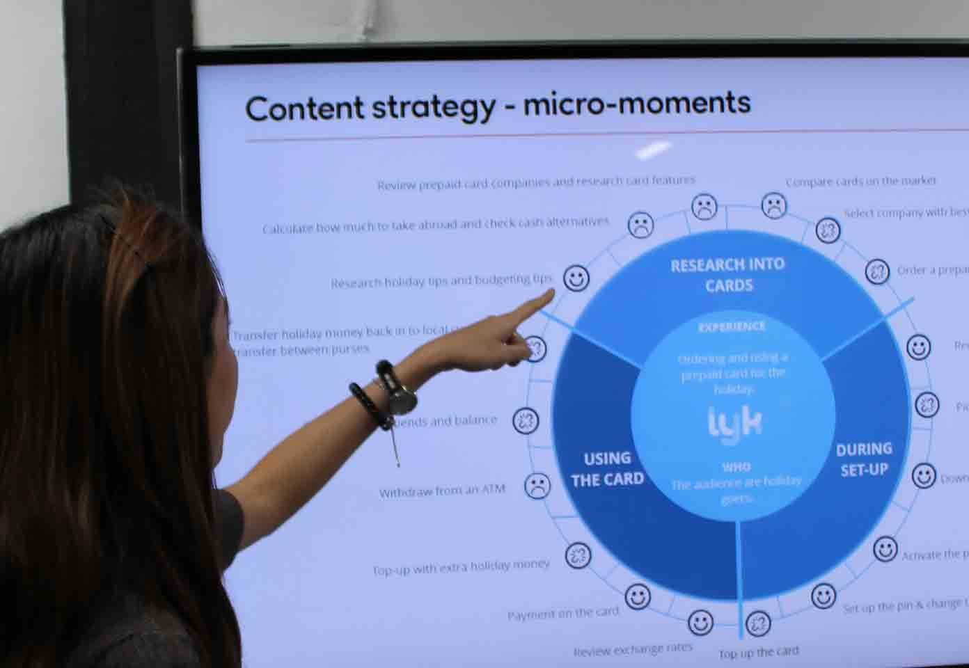 Using Cyber-Duck's Micro-Moments Wheel to plan the UX Content Strategy