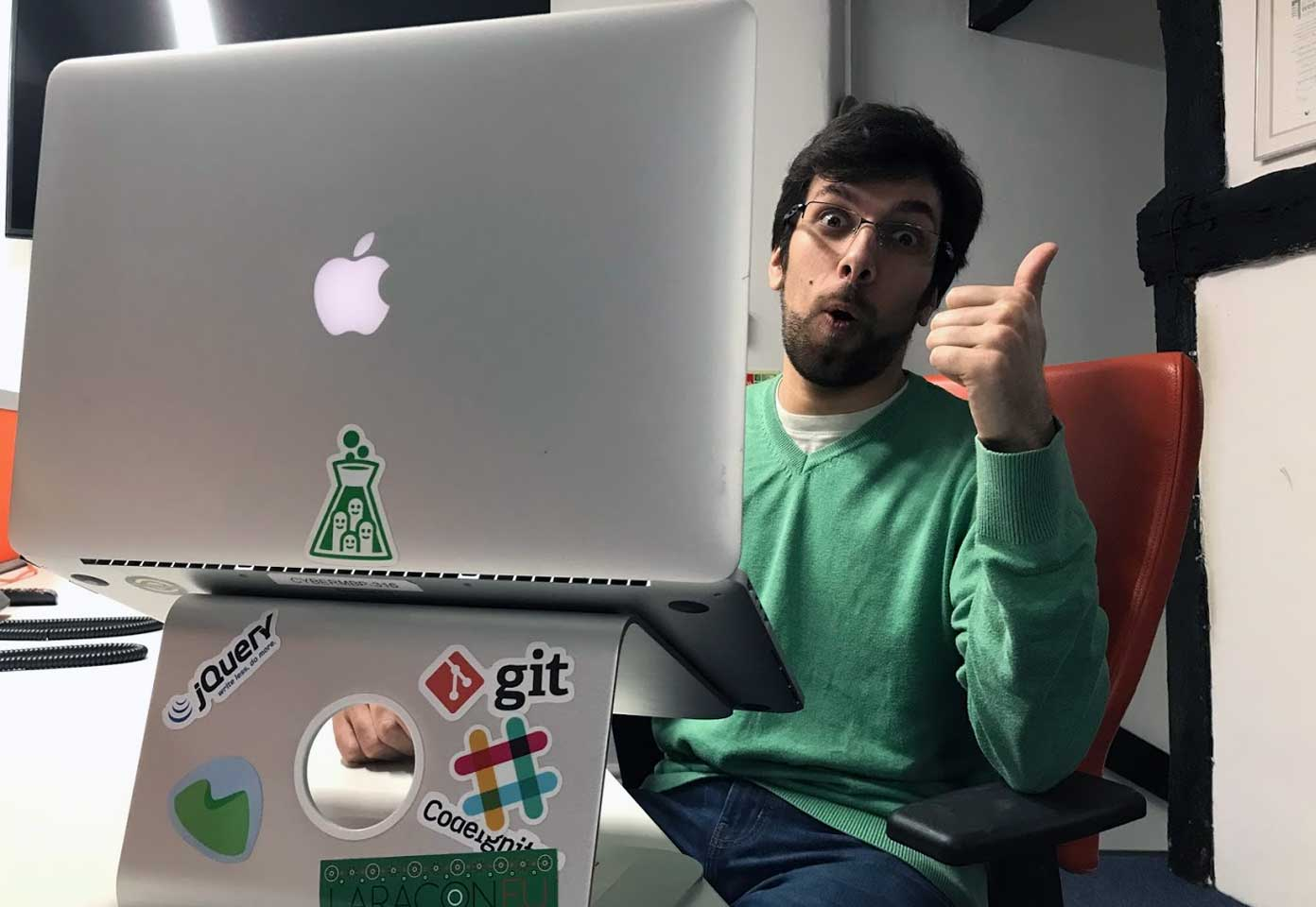 Tiago giving the thumbs-up for Cyber-Duck's Lifelong Support