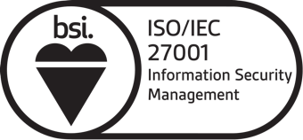 BSI ISO 27001 Information Security Management logo (black)