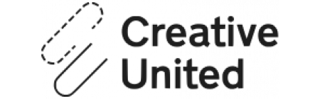 Creative United fulllogo paperclip black white