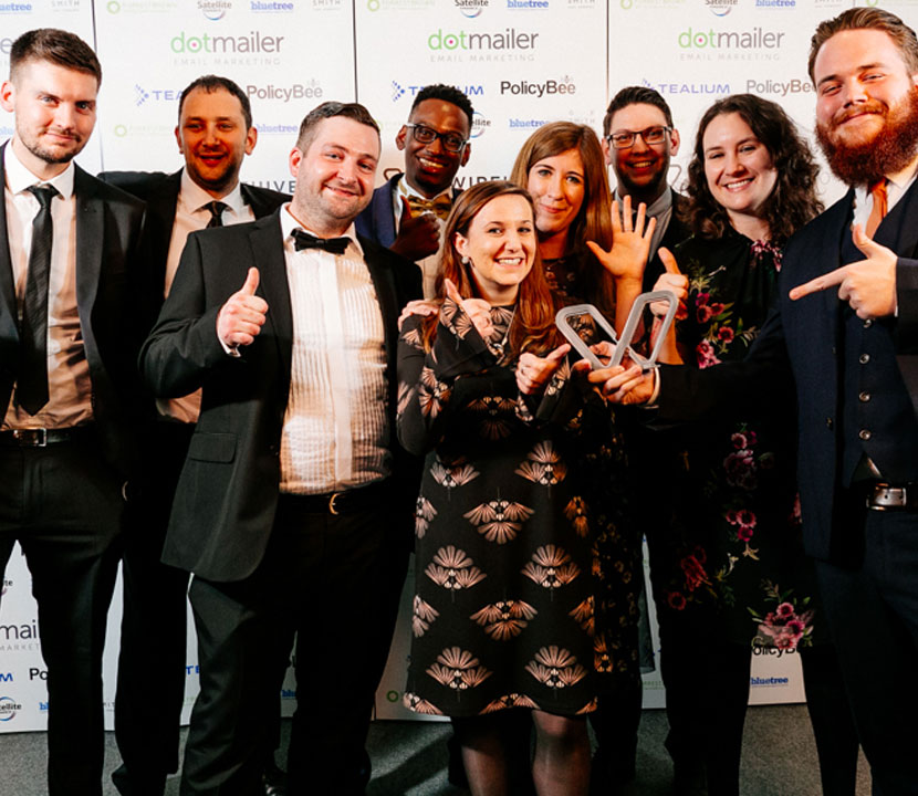Cyber-Duck wins Agency Team of the Year at Wirehive 100 2018