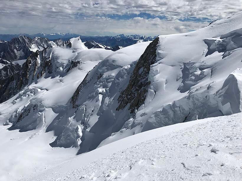 Another view from the ascent of Mont Blanc