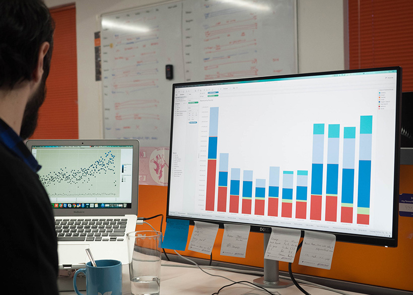 For in-depth data analysis we create business dashboards.
