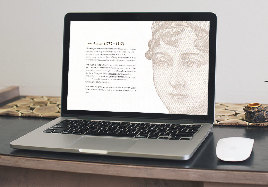 Jane Austen, the English novelist