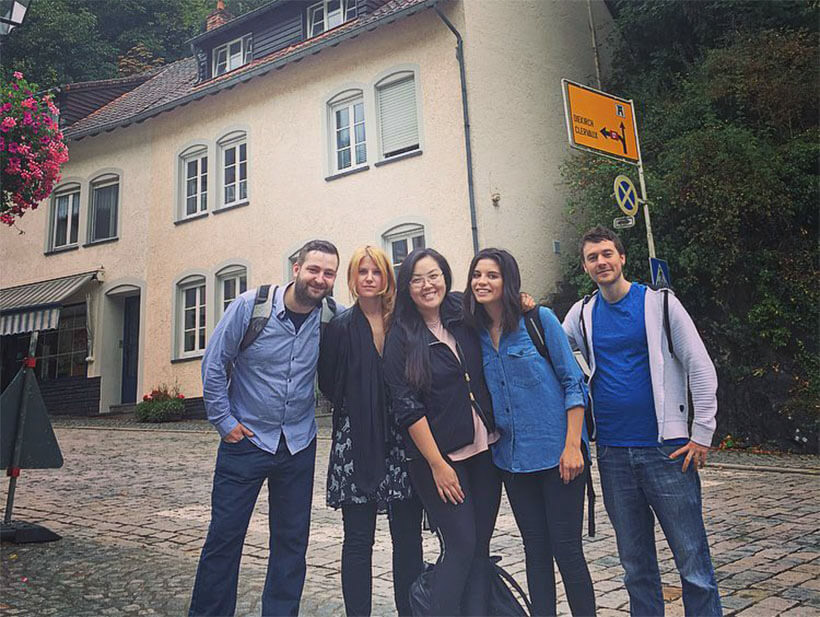 The Squill team in Vianden