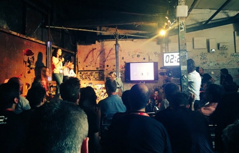 Pitching Squill at Pirate Summit