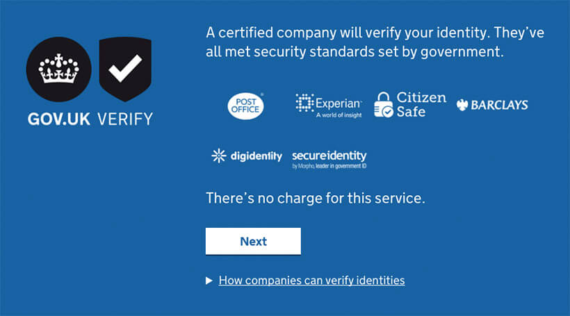 GOVUK Verify copy