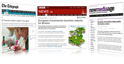 The EU – What's in it for me? Homepage