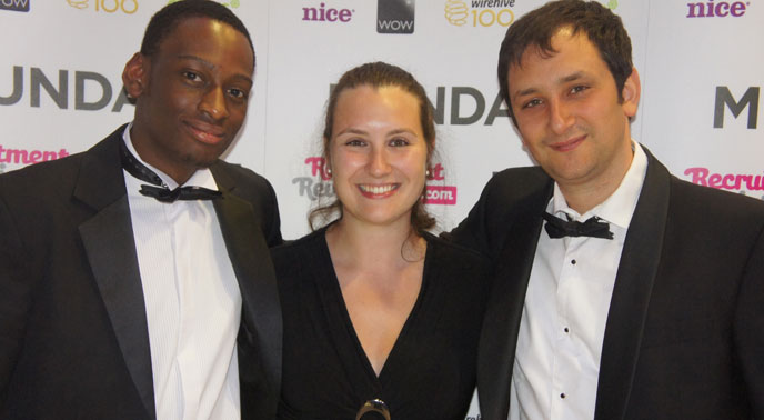 Siji Onabanjo and Danny Bluestone at WireHive 100 awards ceremony for Digital Agencies