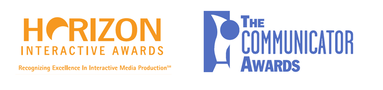Horizon Interactive and Communicator Awards logos