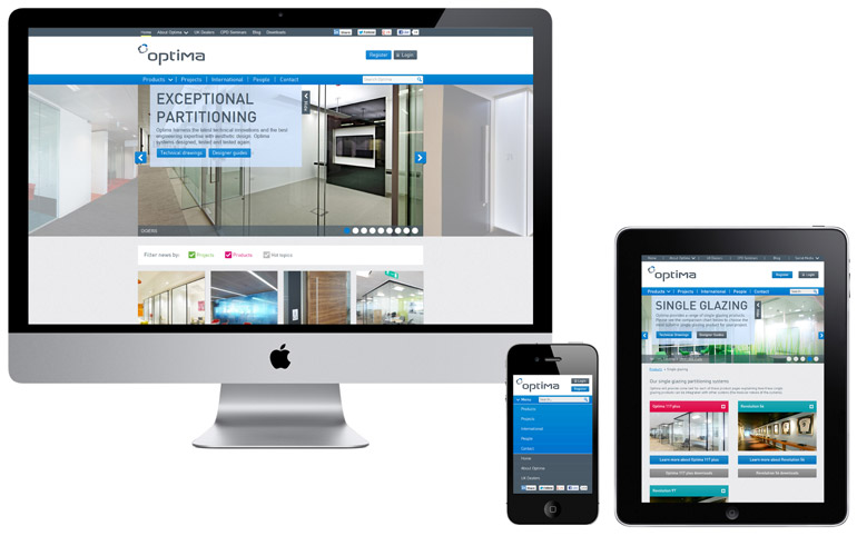 Optima Responsive Website