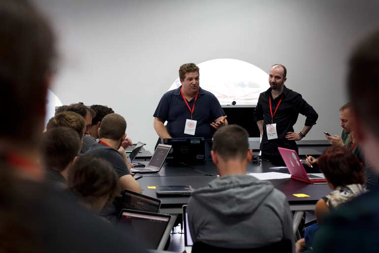 Alex and Ben at MozFest