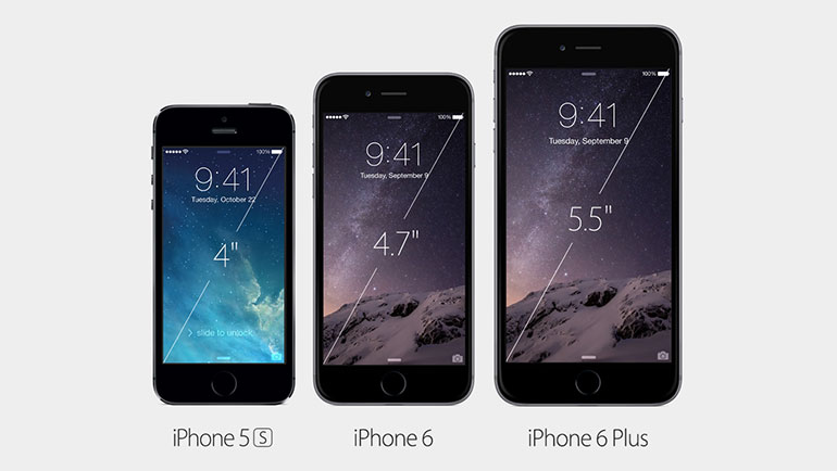 iPhone size comparison