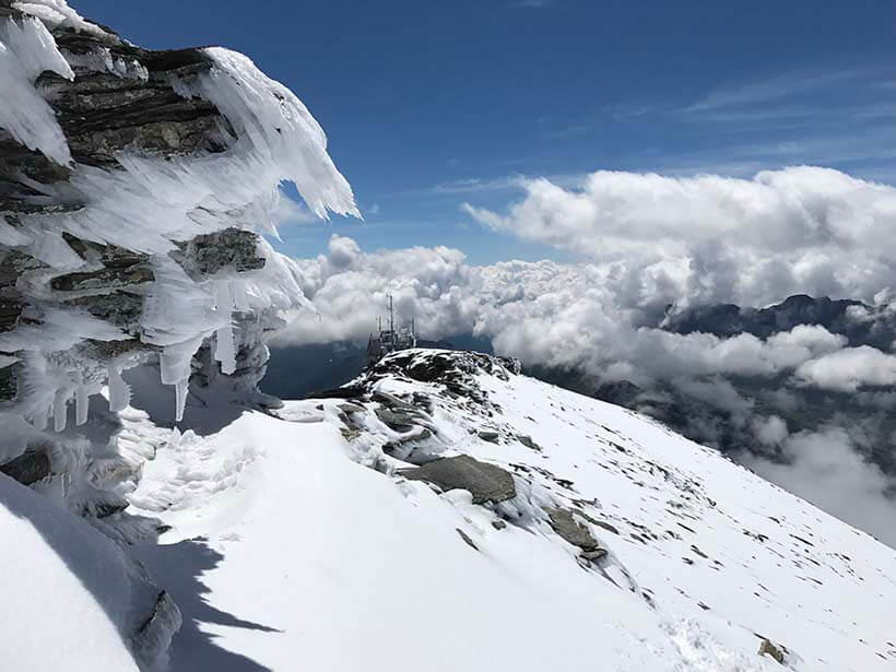 Acclimatising on Mt Buet in the Mont Blanc massif