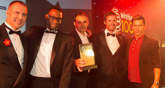 Best Tech winners at the Wirehive 100 Awards in 2013