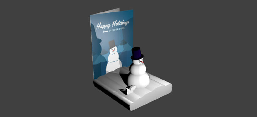 Augmented Reality Christmas card render
