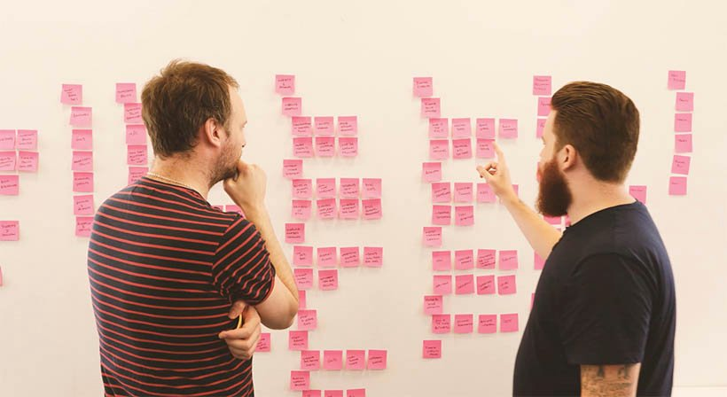 The Bank of England project team working on an information architecture system