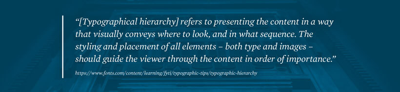 Typographical Hierarchy Definition